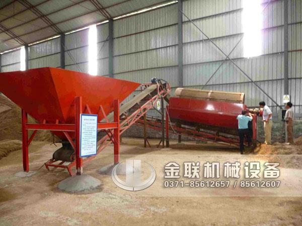 滚筒筛沙机生产现场