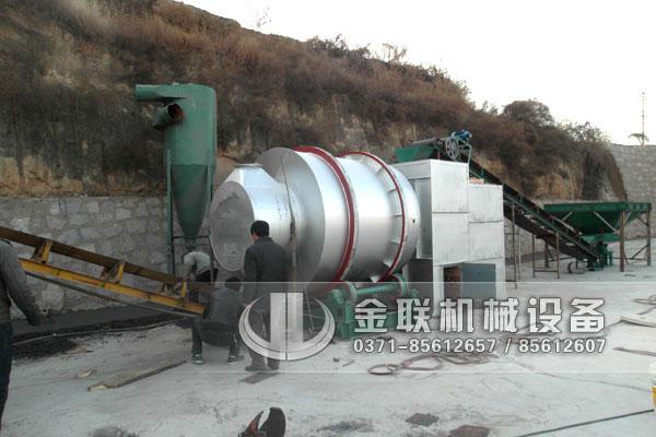 河沙烘干机生产现场