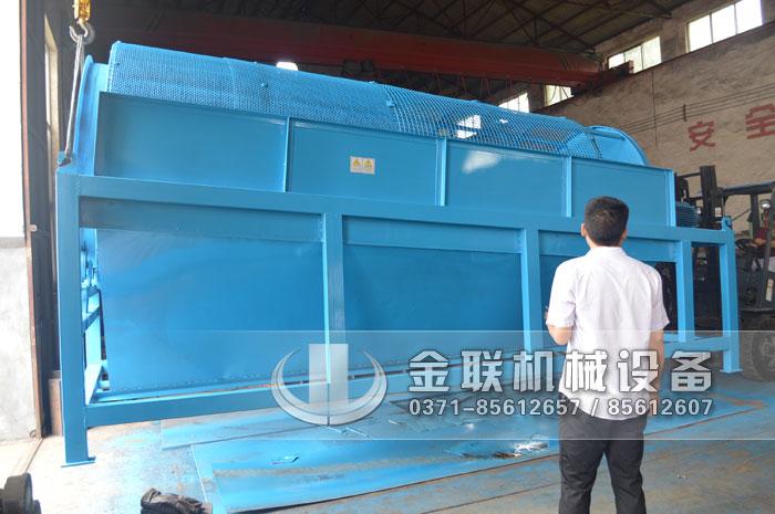 1.8X4.5米无轴滚筒筛分机发往河南周口筛沙子1