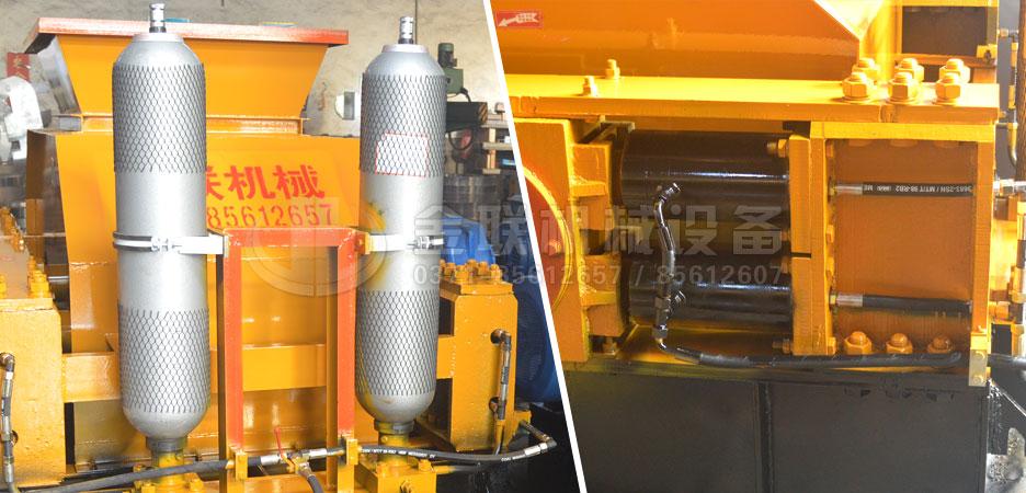 液压对辊破碎机xu能氮气罐和液压缸图pian