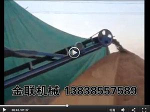 小型滚筒筛沙机,输送一体机生产现场_滚筒筛沙机视频